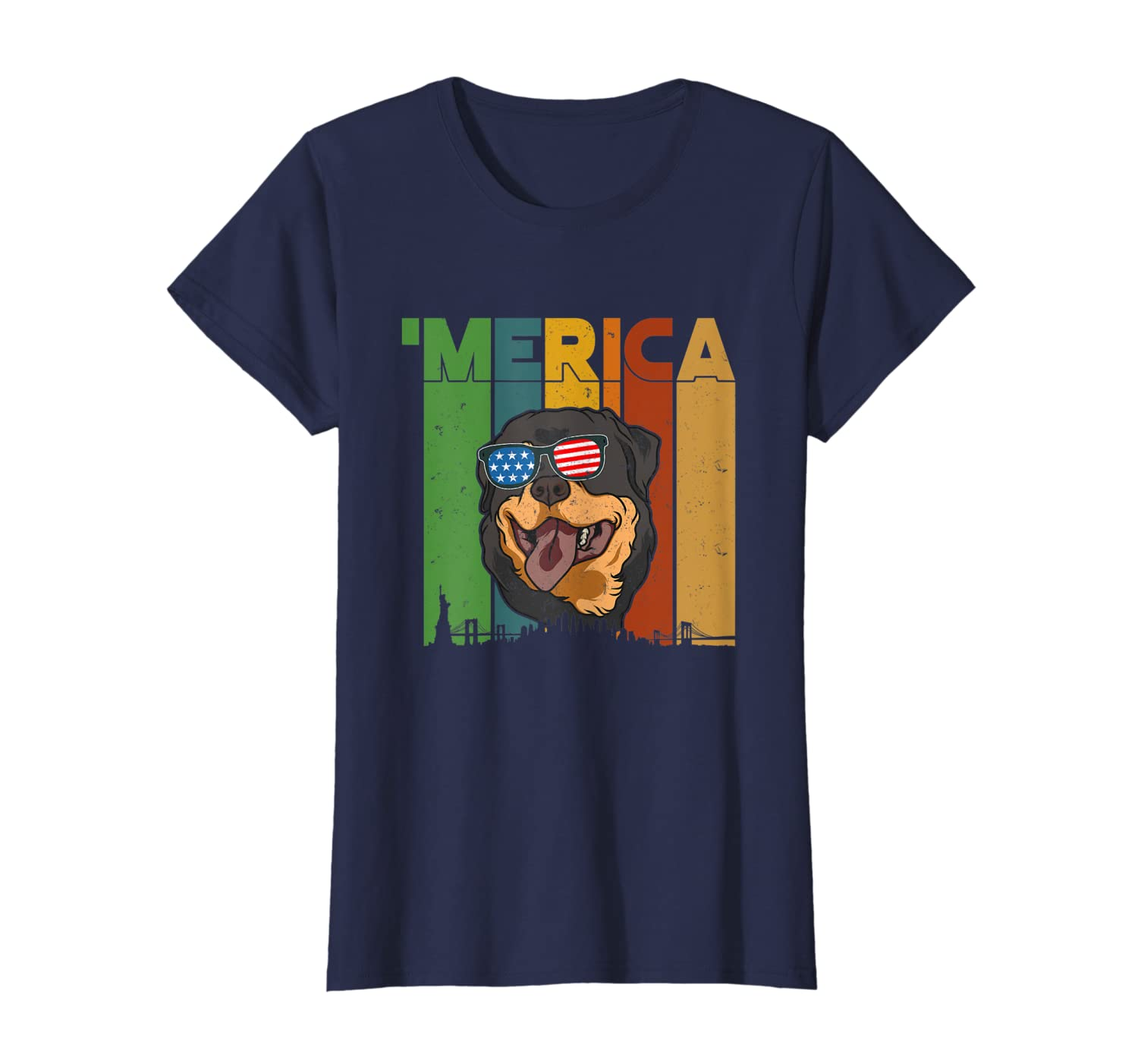 4th Of July Gifts Patriotic Rottweiler 'merica T-shirt
