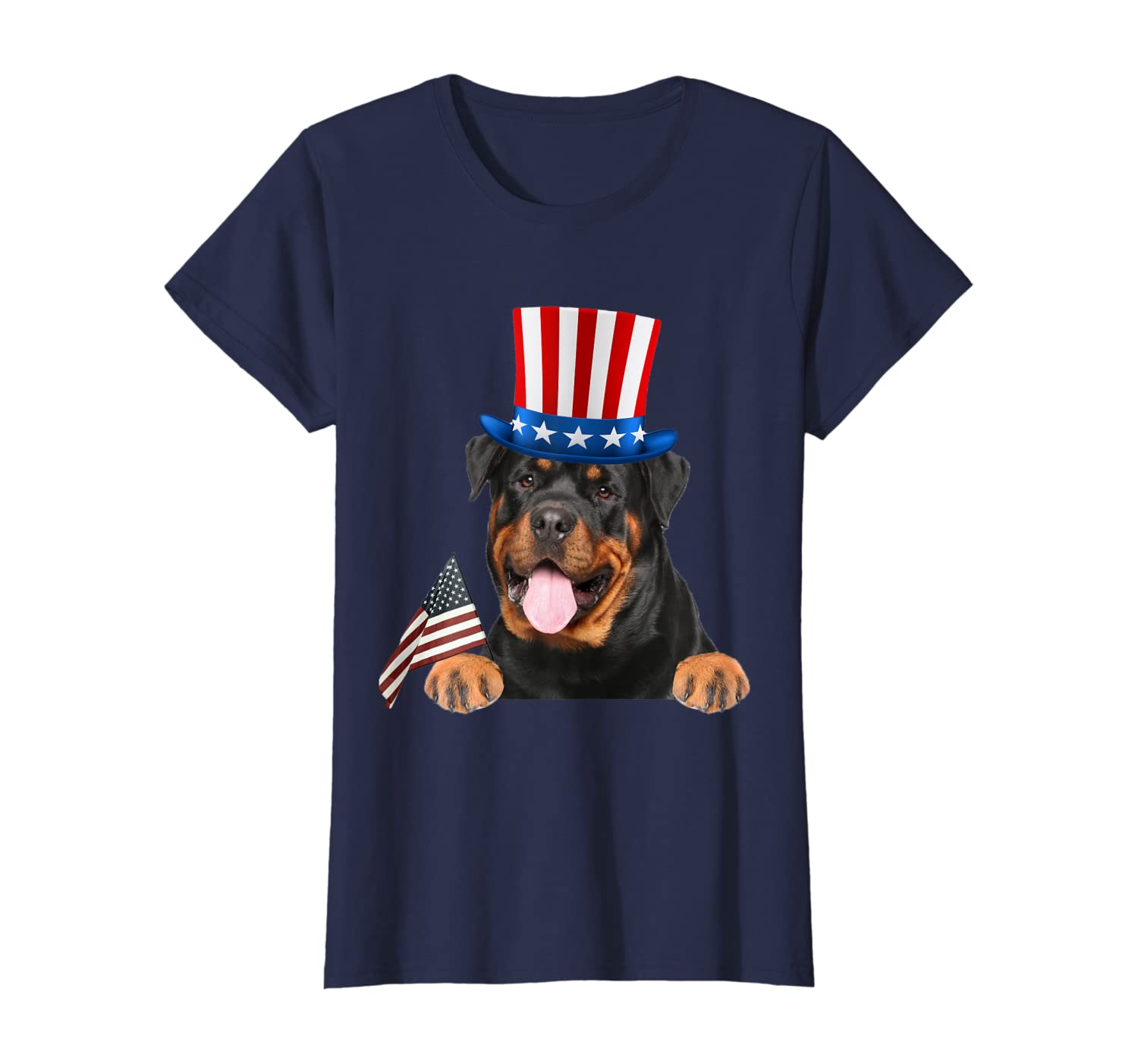 4th Of July Independence American Day Rottweiler Dog Shirt